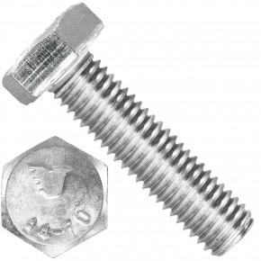 100 Sechskantschrauben M10 x 40 mm - SW 17 - Edelstahl A4 - 70 - DIN 933