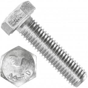 50 Sechskantschrauben M12 x 50 mm - SW19  - Edelstahl A4 - 70 - DIN 933