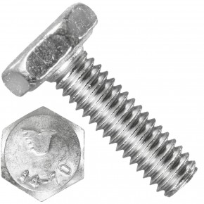 1000 Sechskantschrauben M2,5 x 8 mm - Edelstahl A4 - 70 - DIN 933