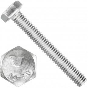 100 Sechskantschrauben  M 6X45 mm - SW 10 - Edelstahl A4 - 70 - DIN 933