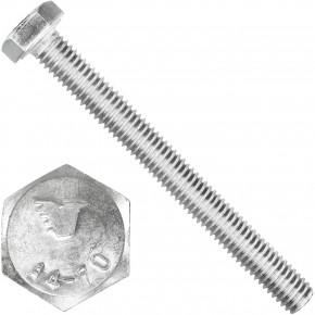 100 Sechskantschrauben  M 6X60 mm - SW 10 - Edelstahl A4 - 70 - DIN 933