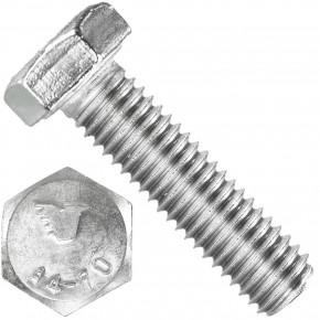 100 Sechskantschrauben  M 8X30 mm - SW 13 - Edelstahl A4 - 70 - DIN 933