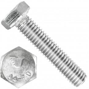 100 Sechskantschrauben M8 x 40 mm - SW 13 - Edelstahl A4 - 70 - DIN 933