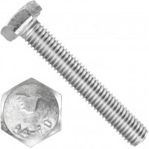 100 Sechskantschrauben  M 8X50 mm - SW 13 - Edelstahl A4 - 70 - DIN 933