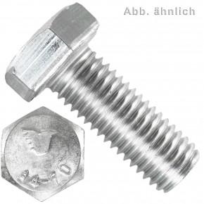 100 Sechskantschrauben M5 x 16 mm - SW 8 - Edelstahl A4 - 70 - DIN 933