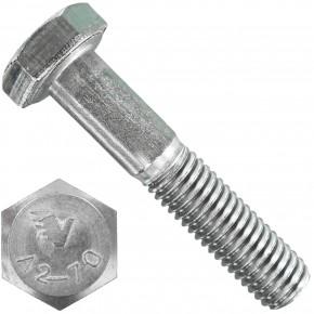 60 Sechskantschrauben DIN 931 - M6 x 30mm - Edelstahl A2