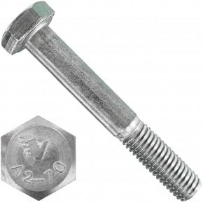100 Sechskantschrauben DIN 931 - M8 x 55mm - Edelstahl A2