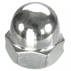 100 Hutmuttern DIN 1587 - M10 - Edelstahl A2