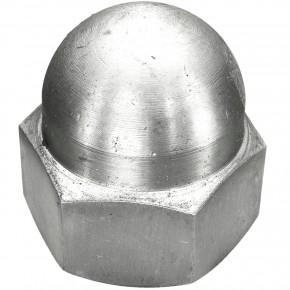 10 Hutmuttern DIN 1587 - M27 - Edelstahl A2