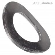 1000 Federscheiben - M6 - DIN 137 - Form B - Edelstahl A4