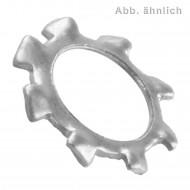 1000 Zahnscheiben für M8 - Edelstahl A2 - DIN 6797 Form A - kleinere Ausführung