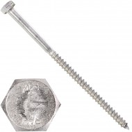 100 Schlüsselschrauben 6x110 mm - Edelstahl A2 - DIN 571