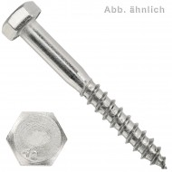 10 Schlüsselschrauben 10x180 mm - Edelstahl A2 - DIN 571