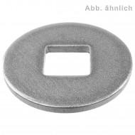 100 Unterlegscheiben DIN 440 A2 Edelstahl Form V Vierkantloch M5
