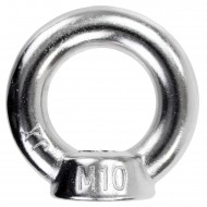 25 Ringmuttern - M10 - gegossene Ausführung - Edelstahl A2