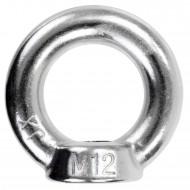 2 Ringmuttern ähnlich DIN 582 Edelstahl A2 M12