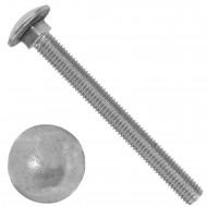 10 Schlossschrauben DIN 603 - M10 x 100 mm - Edelstahl A2
