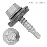 100 BI- Metall Bohrschrauben, Bohrleistung 0,63-2-1,5 - 4,8x20
