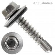 50 Bohrschrauben Form K DIN 7504 Edelstahl A2 16mm Dichtscheibe 5,5x28