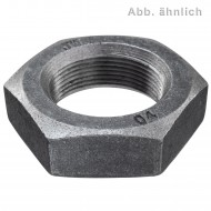 50 Sechskantmuttern M20 - Feingew. 1,5mm - niedrig, Form B - blank - DIN 439