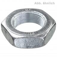 100 Sechskantmuttern M10 - Feingew. 1mm - niedrig, Form B - verzinkt - DIN 439