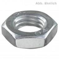 100 Sechskantmuttern M6 - SW10 - niedrig, Form B - verzinkt 8.0 DiSP - DIN 439