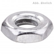 1000 Sechskantmuttern M3 - SW5,5 - niedrig, Form B - galv. verzinkt - DIN 439