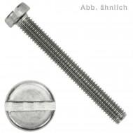 500 Zylinderschrauben M4 x 50mm - Schlitz - Edelstahl A2 - DIN 84