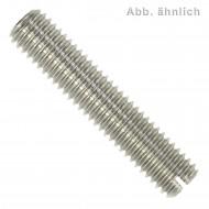 10 Gewindestifte mit Schlitz und Kegelkuppe DIN 551 Edelstahl A2 M10x25