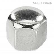 100 Sechskant-Hutmuttern, niedrige Form DIN 917 Edelstahl A2 M10