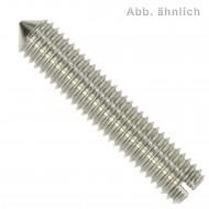 200 Gewindestifte mit Schlitz und Spitze DIN 553 Edelstahl A2 M3x20