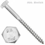 20 Schlüsselschrauben 6x65 mm - Edelstahl A4 - DIN 571