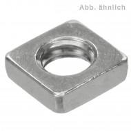 200 Vierkantmuttern, niedrige Form DIN 562 Edelstahl A2 M8