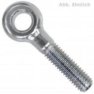 1 Augenschraube DIN 444 Stahl 4.6  24 x 200 galvanisch verzinkt Form B