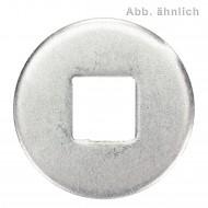 50 Unterlegscheiben DIN 440 Edelstahl A4 Form V Vierkantloch M10