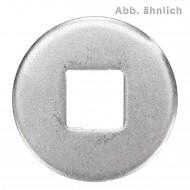100 Unterlegscheiben DIN 440 blank Form V Vierkantloch 9x28
