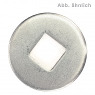 100 Unterlegscheiben DIN 440 Form V Vierkantloch galvanisch verzinkt 14x44