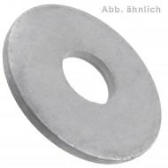 100 Unterlegscheiben DIN 440 Form R / ISO 7094 Rundloch feuerverzinkt M8