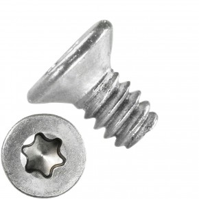 1000 Senkschrauben M1,6 x 3 mm - ISR TX 5 - Edelstahl A2 - DIN 965
