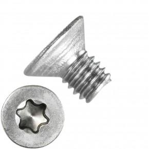 1000 Senkschrauben M2,5 x 4 mm - ISR TX 8 - Edelstahl A2 - DIN 965