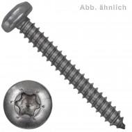 1000 Blechschrauben DIN 7981 - 2,2x9,5 mm - Linsenkopf - Torx - Edelstahl A2