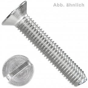 200 Senkschrauben DIN 963 Schlitz Edelstahl A2 3,5x10mm