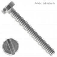 100 Zylinderschrauben mit Schlitz DIN 84 A1 M1,6 x 6 mm