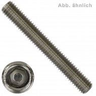 25 Gewindestifte M6 x 16 mm - DIN 913 - Kegelkuppe - SW2 - Edelstahl A4