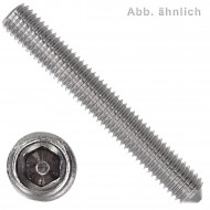 25 Gewindestifte M6 x 16 mm - DIN 914 - Spitze - SW3 - Edelstahl A1-A2