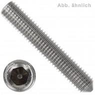 50 Gewindestifte M5  x  6 mm - DIN 914 - Spitze - SW1,5 - Edelstahl A4