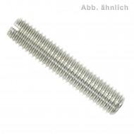 100 Gewindestifte mit Schlitz und Kegelkuppe DIN 551 Edelstahl A4 M8x10