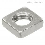 200 Vierkantmuttern, niedrige Form DIN 562 Edelstahl A4 M5