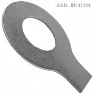 50 Scheiben mit Lappen 6,4 mm - DIN 93 - Edelstahl A4