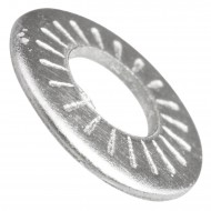 2000 AFNOR-Kontaktscheiben gezahnt für M3 - Form M - Edelstahl A2